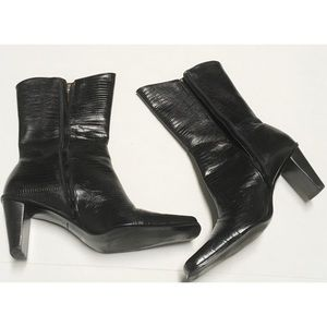 Black Leather Boots Size 9.5